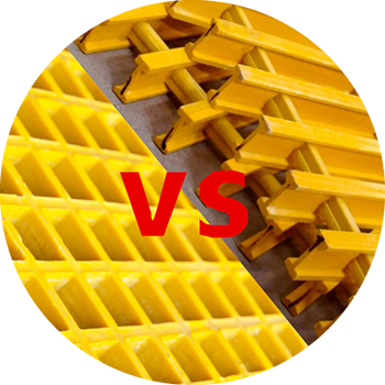 The comparison of molded FRP gratings and pultruded FRP gratings.